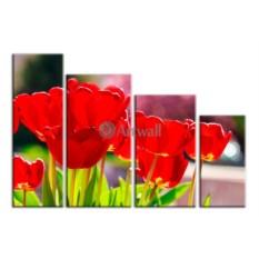 Модульная картина «Красные маки» 70×48 см