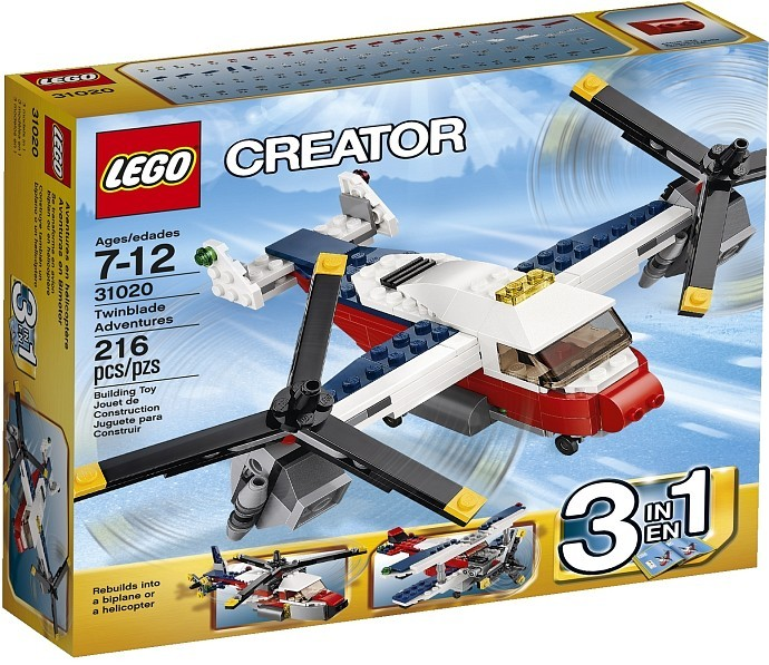 Конструктор LEGO CREATOR Приключения на конвертоплане
