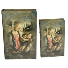 Набор из 2 шкатулок-фолиантов Мадонна с младенцем