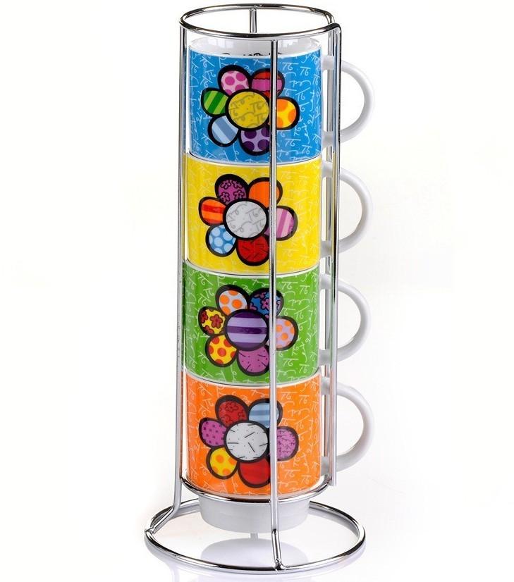 Набор из 4 чашек FLOWER