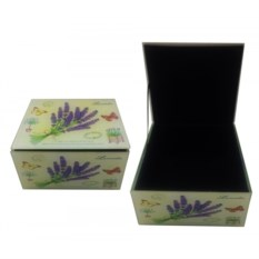Шкатулка Лаванда, размер 11,5 х 11 х 6,2 см