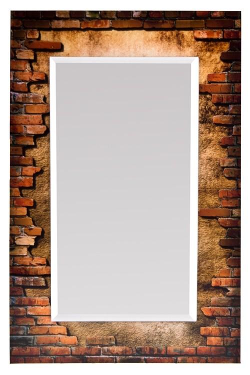 Настенное зеркало Кирпичная стена