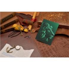 Кожаная обложка для паспорта Elole Design Травяной лев