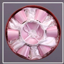Чайный набор 6 персон Модерн розовый