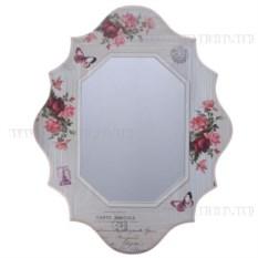 Зеркало с изображением цветов
