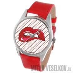 Часы Mitya Veselkov Губы кораллового цвета