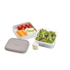 Серый компактный ланч-бокс для салатов GoEat