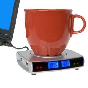 USB-Хаб нагреватель с часами и термометром