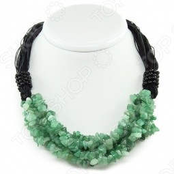 Ожерелье «Амазонка» c нефритом
