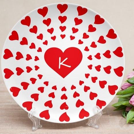 Именная тарелка Любовный тоннель