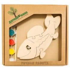 Развивающая игрушка Рыба с красками