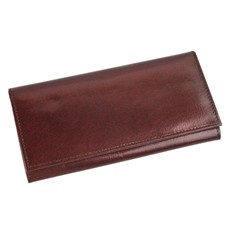 Кожаное портмоне дамское с отделениями, коричневое