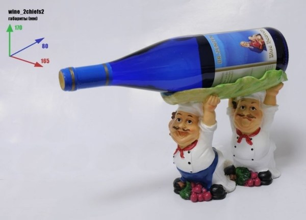 Подставка для бутылки 2 повара, бутылка над головой