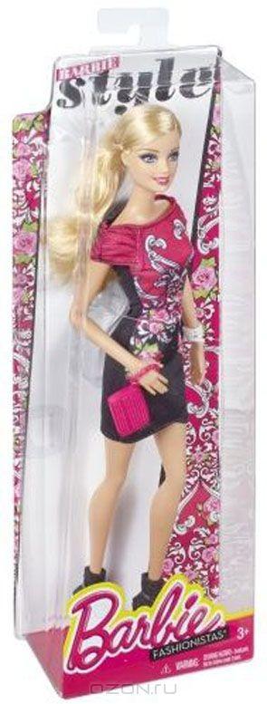 Кукла Barbie Гламурная вечеринка в красно-черном платье с цветами