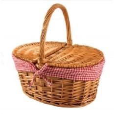 Плетена из лозы корзина для пикника