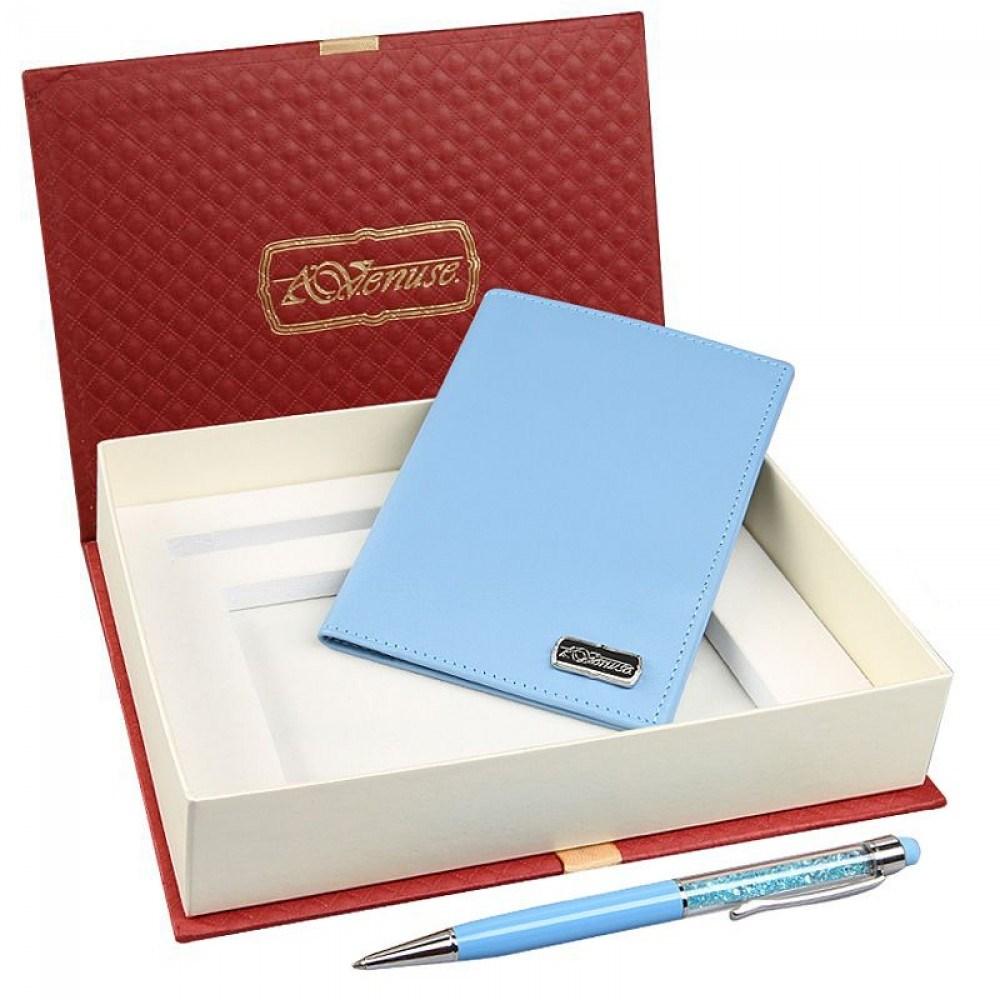 Подарочный набор (обложка для паспорта и ручка)