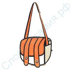 Мультяшная 2D сумка Jump From Paper оранжевая