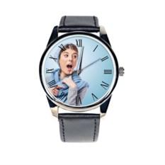 Часы с вашим фото «Римские цифры»