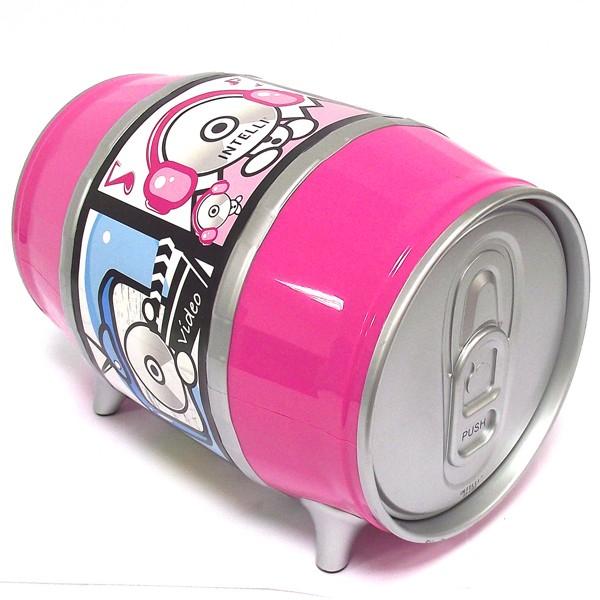 Розовая пивная бочка для CD дисков