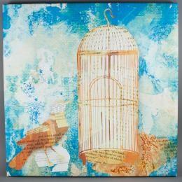 Арт-картина «Коллаж синий»