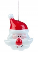 Елочное украшение Дед Мороз – красный нос, светящееся