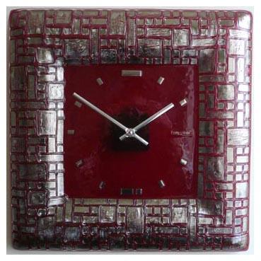 Часы «Платиновый лабиринт»  380x380 мм