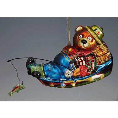Игрушка Мишка-рыбак