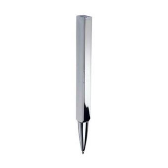Ручка шариковая Smalto Square Silver в футляре