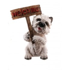Копилка Собака с табличкой Welcome