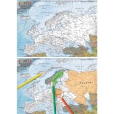 Пазл-раскраска «Карта Европы»