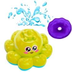 Игрушка для ванны «Фонтан-осьминожка» (цвет: желтый)