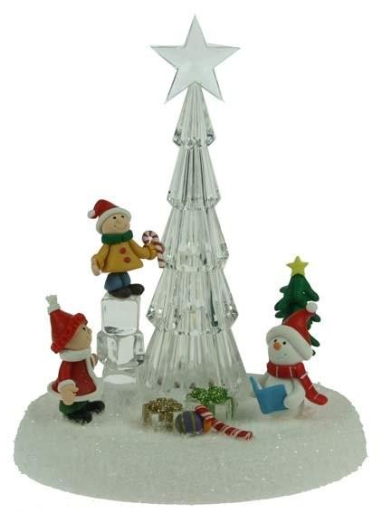 Новогодняя композиция с подсветкой Ледянная елка