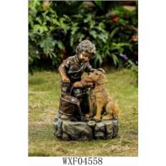 Фонтан Мальчик с собакой