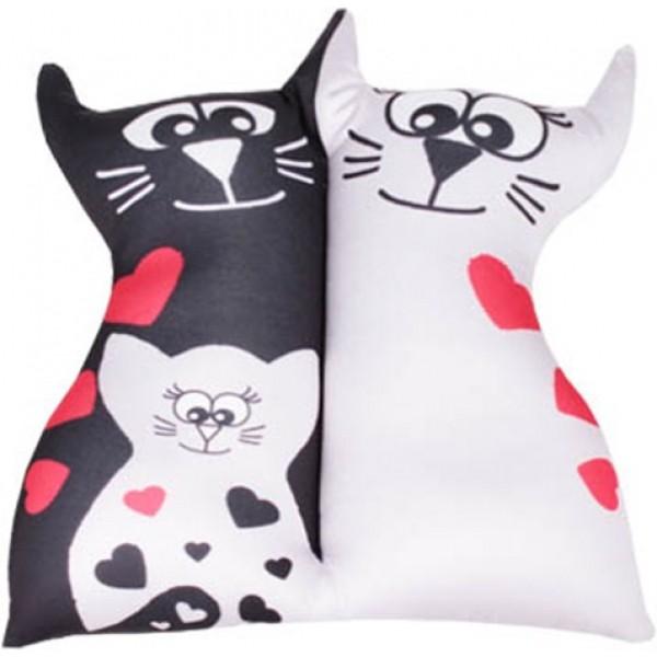 Игрушка антистрессовая Влюбленные кисы (белый котенок)