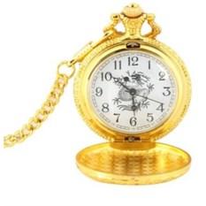Карманные часы под золото Дракон