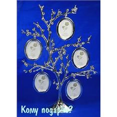 Фоторамка-дерево на 5 фото, 20x8x27 см