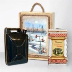 Подарочный набор Сибирь Нефть.Черная канистра