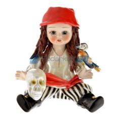 Фарфоровая статуэтка Девочка Пиратка от Zampiva