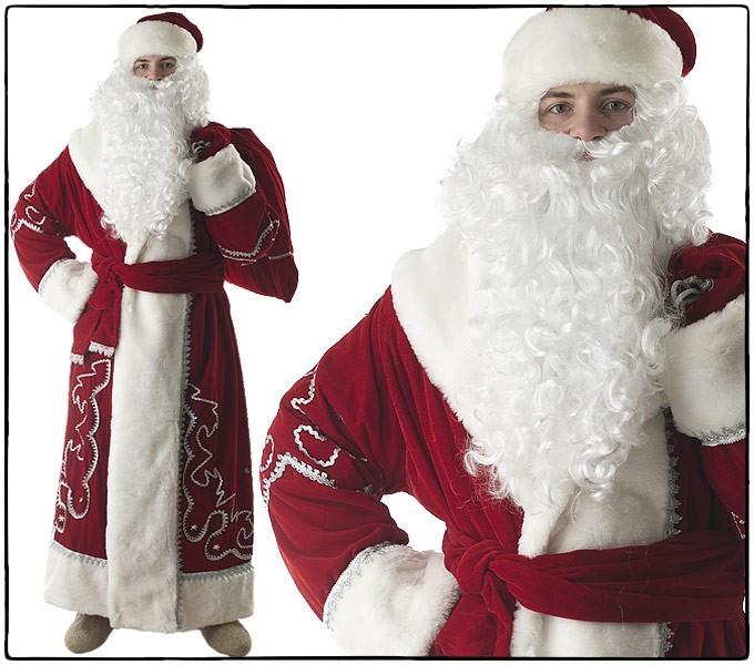 Костюм Дед Мороз, бархат с орнаментом