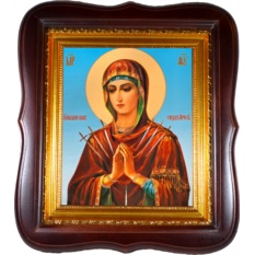 Умягчение злых сердец. Икона божьей матери на холсте.