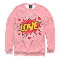 Розовый свитшот Love