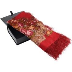 Красный павловопосадский платок