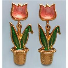 Винтажные клипсы Avon Любимые тюльпаны