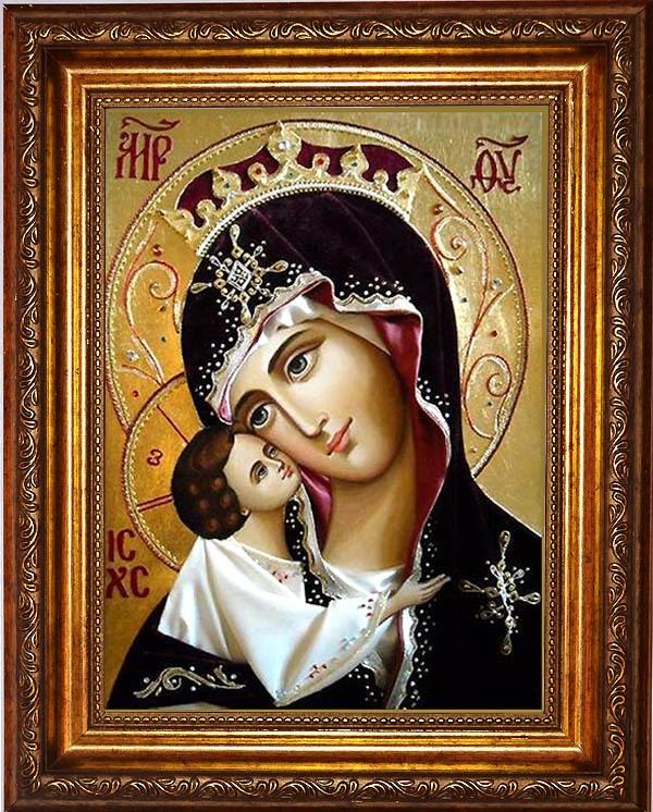 Игоревская икона Божьей Матери на холсте