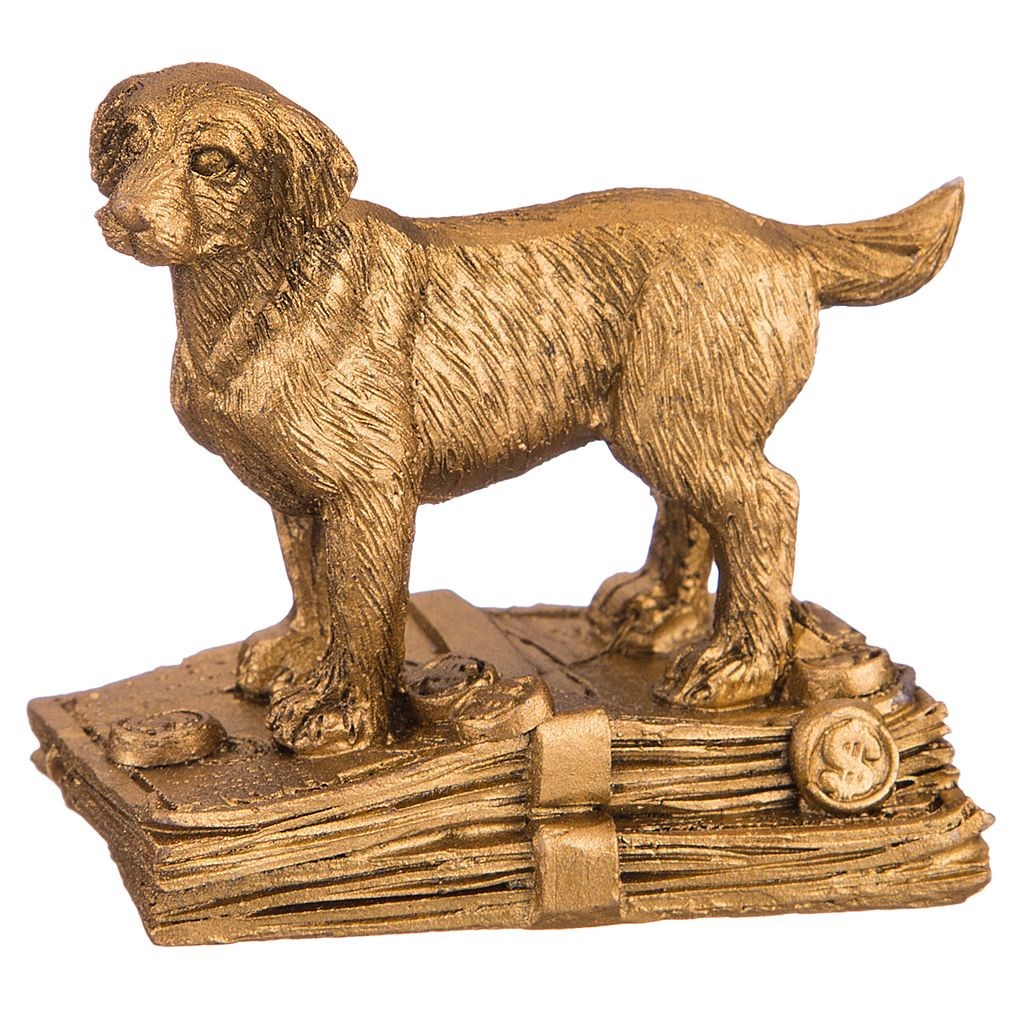 Декоративная фигурка Золотая собака