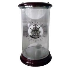 Настольные часы из дерева, стекла и металла «Колба»