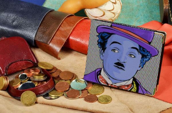 Портмоне с принтом Чаплин