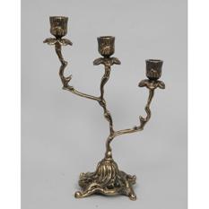 Пара канделябров на 3 свечи из бронзы Virtus