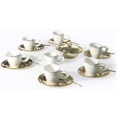 Набор для кофе Ricciolo на 6 персон, позолота