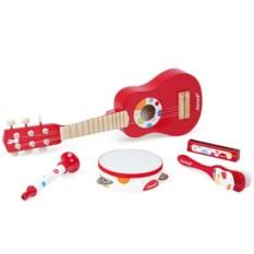 Набор красных музыкальных инструментов
